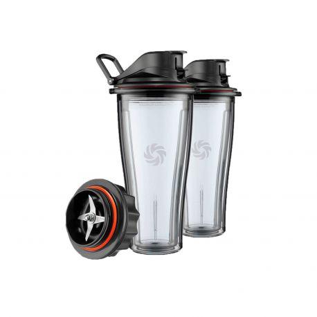 Juego 2 vasos Vitamix serie Ascent + base cuchillas - 600 ml