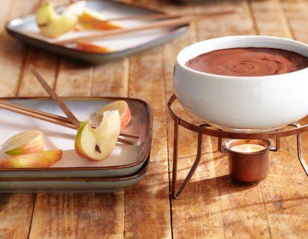 Fondue de chocolate negro y frambuesa