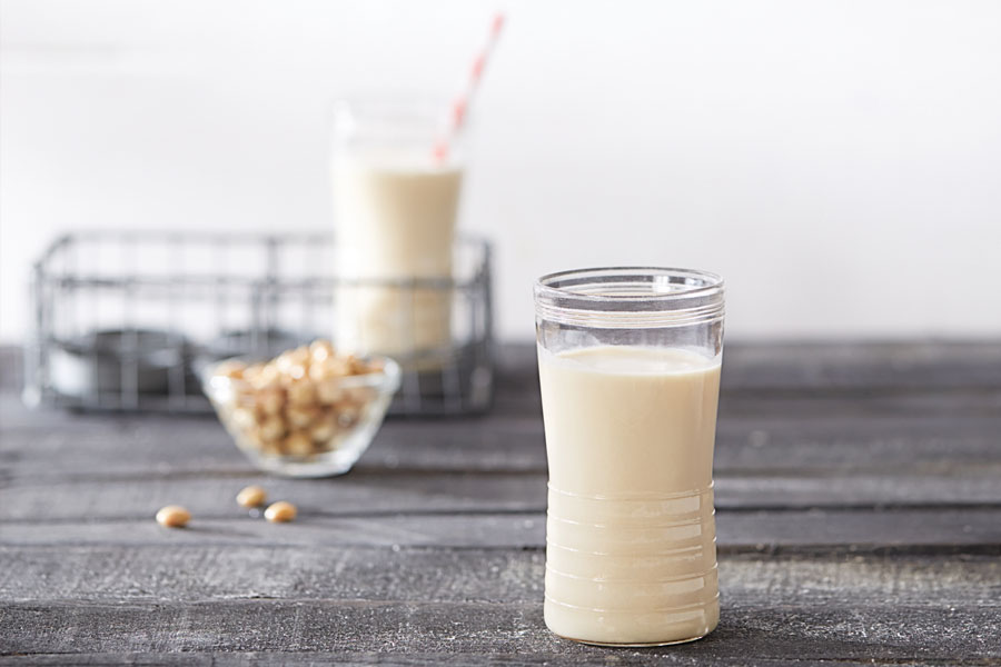 receta leche de soja
