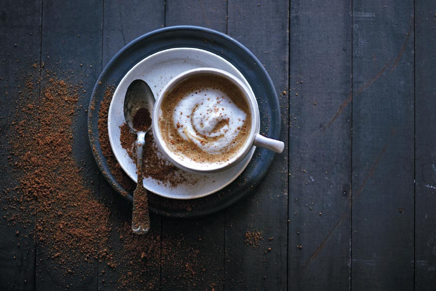 Latte con especias de calabaza
