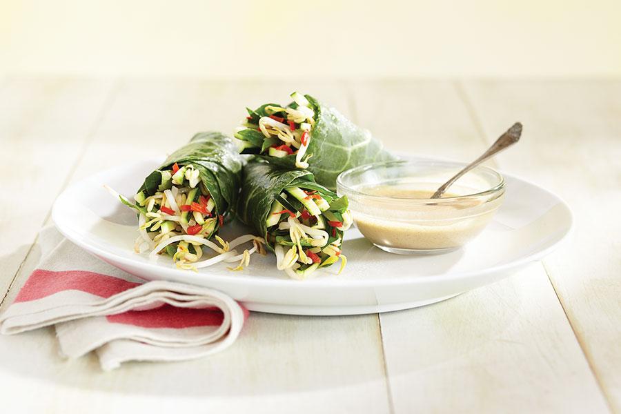 Rollitos de primavera con salsa Thai