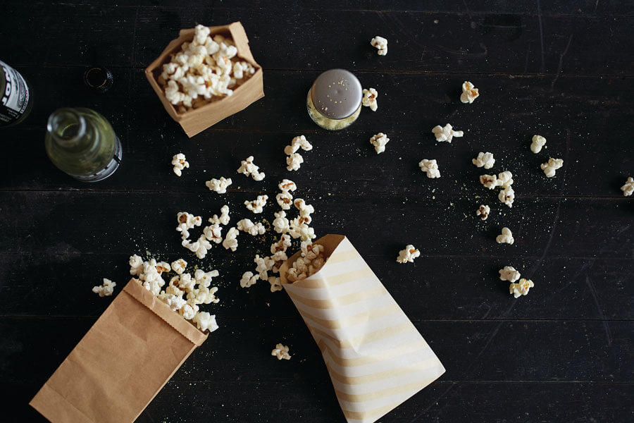 Paquetes con palomitas aderezadas - Aderezo para palomitas